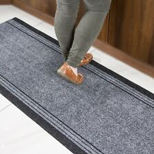 Grey Non Slip Mat Cut to Any Length Per Foot Custom Extra Long Runner Rug