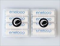 8 x Eneloop Panasonic AA R6 Akku + 2x EWANTO Aufbewahrungsbox Batteriebox