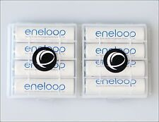 8 x ENELOOP PANASONIC AA r6 batteria + 2x ewanto SCATOLA PORTAOGGETTI batteriebox