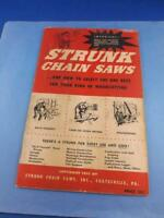 STRUNK CHAIN SAWS ADVERTISING SALES BROCHURE BOOKLET HOW TO SELECT THE BEST