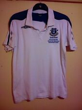 EVERTON FOOTBALL CLUB WHITE POLO SHIRT CHESTERFIELD HIGH SCHOOL SPORTS COLLEGE M