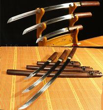 1095 CLAY TEMEPERED ROSE JAPANESE SAMURAI SWORD SET ( KATANA + WAKIZASHI +TANTO)