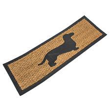 75cm x 25cm Rubber Coir Dachshund Sausage Dog Door Mat Front Back Outdoor Indoor