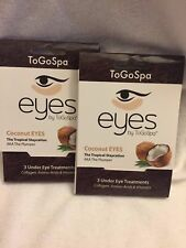 Eyes By ToGoSpa Eye Treatments 2 Pack (6 Pairs ) COCONUT NEW EXP. 2019