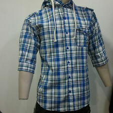 Voi Jeans Cotton Hooded Check Casual Shirts & Tops for Men