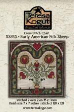 Early American Folk Sheep XS2345 Teresa Kogut Counted Cross Stitch Chart Pattern