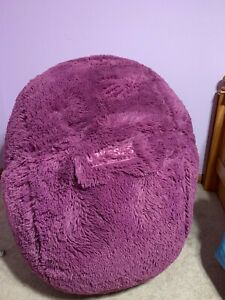Limited Edition 20th Anniversary Purple Fur Lovesac CitySac Cover + Pillow Cover