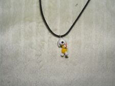 Peanuts Snoopy Playing Ping Pong Charm Pendant Necklace Retro Cartoon Jewelry