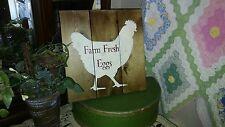FARM FRESH EGGS      primitive wood pallet and Farmhouse style sign