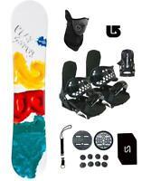 $500 Play 2b1 Snowboard +Bindings Package Men Women Stomp+Leash+Mask+ Burton 3d
