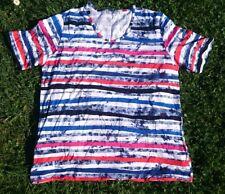 Shirt RABE * Gr 44 L * wie NEU * blau weiß pink rot gestreift