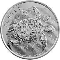 2014  Silver 1 oz. New Zealand Mint $2  Niue Hawksbill Taku Turtle