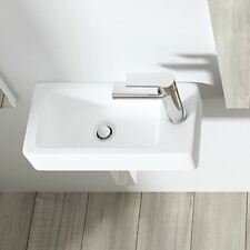 Durovin Bathroom Basin Sink Wall Mounted Hung Counter Top Ceramic Cloakroom 3053l W 360mm D 180mm H