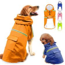 Dog Raincoats for Small Large Dogs Yellow Waterproof Reflective Rainwear S-5XL