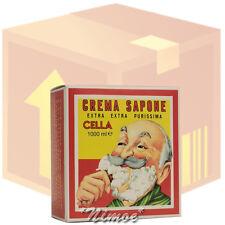 Sweet Almond Oil Shaving Soap box 12 pcs x 1000ml Cella Milano ® Sapone Madorla