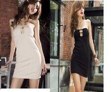 NWT strapless cutout design tube top mini dress black or beige great club wear