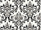"""Damask Table Squares For Centerpieces Black and White 18""""  Wedding Traditions"""