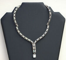 Swaroski collier pendentif  femme cristal argent jewellery