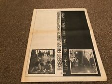 "(MEL08) ALBUM/SINGLE ADVERT 15X12"" ROBERT FRIPP - GOD SAVE THE QUEEN"