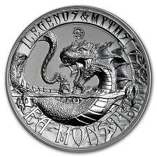2017 Solomon Isl. 2 oz Silver Rev Prf Legends & Myths Sea Monster - SKU #150908