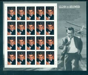 US 3692 Cary Grant Legends of Hollywood, Sheet/20, Self Adhesive, Mint OG NH