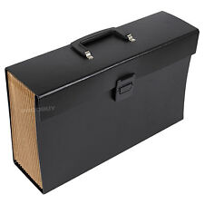 Large Black Expanding File Concertina 19 Part Tab Folder A4 Paper Storage File