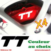 4 Stickers pour étriers de frein TT - Autocollants pour Audi TT - 158