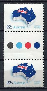 40631) AUSTRALIA 1981 MNH** Australia Day 1v gutter pair