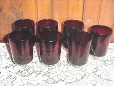 7 Luminarc Red Cavaleir Water Wine Stemmed Goblets Tumblers Arcoroc France