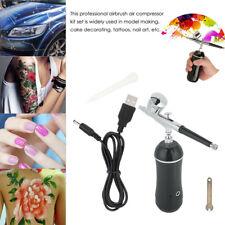 Portable Airbrush Compressor Kit Dual Action Spray Air Brush Tattoo Nail Tool