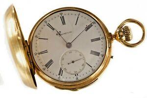 C.H. Meylan & Fleischmann 18k Gold Minute Repeater Double Hunter Pocket Watch