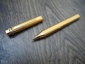 CARTIER LE MUST de TRINITY VENDOME OVAL GOLD Plated ROLLER BALLPOINT PEN MINT