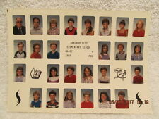 1985-1986 Photo 4th Grade Class at Oakland City IN Elementary School 5X7 Color