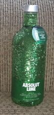 ABSOLUT Lime Vodka Limited Edition Bottle Cover 750 ml Green Silver Sequins NEW