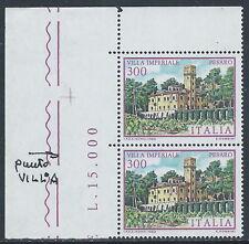1983 ITALIA VILLE IMPERIALE VARIETà PUNTO SU VILLA MNH ** - C0