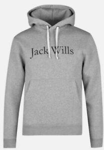 Jack Wills Men's Rixon Hertiage Hoodie In Grey Marl, Size X Small