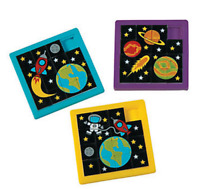 Pack of 4 - Space Slide Puzzles - Party Bags Favours Fillers