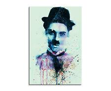 90x60cm PAUL SINUS Splash Art Gemälde Kunstbild Charlie-Chaplin
