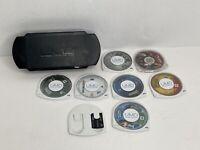 UMD Case PSP Game Storage Includes 6 Games 1 Movie 1 Memory Stick w/Holder *READ