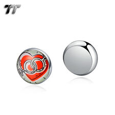 TT 10mm Stainless Steel I Love you Magnet Earrings (BM12) NEW