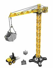 Toy State CAT Apprentice Tower Crane With Fork Lift Construction Vehicle Playset