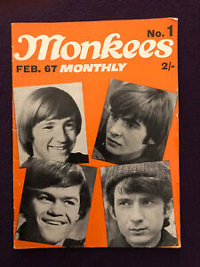 Original MONKEES MONTHLY Magazine No.1 Feb 1967 USA answer To The Beatles