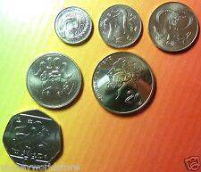 CYPRUS 2004 SET 6 UNC COINS LAST CENT PRE-EURO,ZYPERN CHYPRE KIBRIS,CIPRO,GREECE