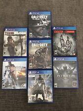 Ps4 Game Lot Bundle Of 7(Diablo, Tomb Raider, Destiny, Call Of Duty,Battlefield)