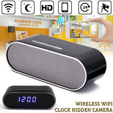 Wireless WiFi 1080P Spy Hidden IR Camera Alarm Clock Motion Cam DVR Night Vision