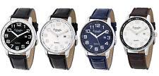 Eichmüller Armbanduhr Echt Leder Uhr Herren 42 mm 3ATM Miyota 2115 Datum Blau