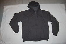Mens CHARCOAL GRAY HOODED SWEAT JACKET Zip Up Hoodie 2 POCKETS Size L 42-44