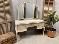 Vintage French Dressing table / Original Crackle Glaze shabby chic style
