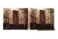 Foresta Da Compiegne Placca Da Lente Stereo 6x13cm Vintage Ca 1920