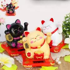 Feng Shui  Chinese Lucky Waving Gold Cat Figure Moving Arm in-Colourful-Box